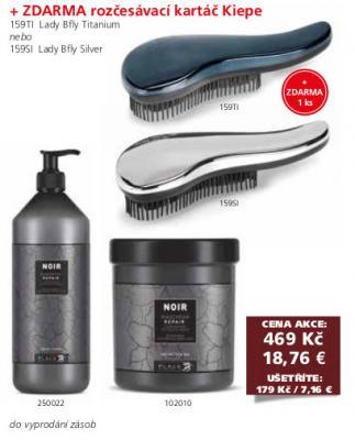 Black Noir Repair Šampon 1000ml a maska 1000ml + rozčesávací kartáč Kiepe zdarma