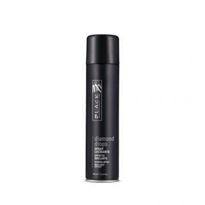Black Professional Lesk na vlasy ve Spreji Diamond Drops 300 ml