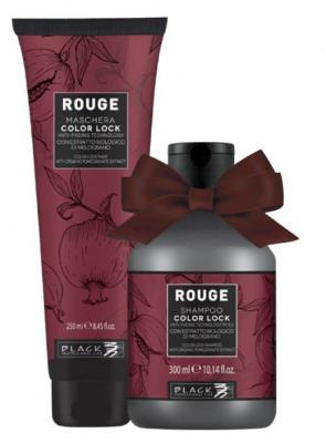 Black Professional Rouge Color Lock Set - dárkové balení šampon a maska na vlasy