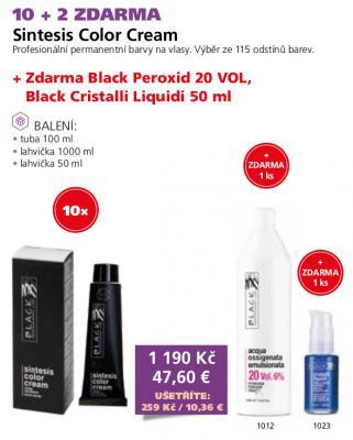 Black Sintesis barvy na vlasy 12 + 2 zdarma