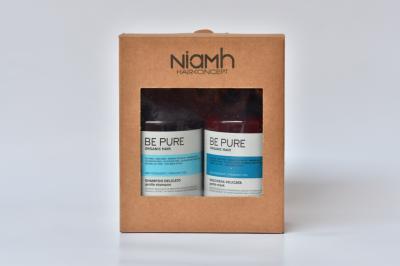 Niamh Hairkoncept šampon a maska Be Pure Gentle - dárkové balení
