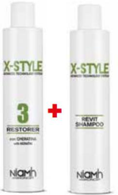 Niamh Hairkoncept X-Style Restorer 250ml + šampon na vlasy Revit 250ml