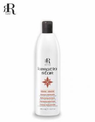 RR Line KERATIN STAR Šampon obnovující namáhané, oslabené a zničené vlasy 350ml 17146