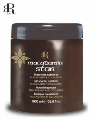 RR Line MACADAMIA STAR Maska vyživující namáhané a matné vlasy 1000ml 17074